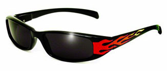New Attitude Sunglasses with Flames on the side temples