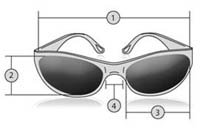 Measurements for our Chix Eternity Sunglasses
