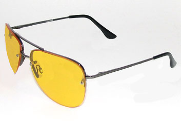 Polarized Driving Aviator Sunglasses with Yellow Lenses