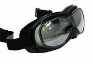 Black with clear lens nomad goggles