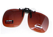 Copper Lens Clip-On Sunglasses