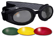 Red Lens Cyber Goth Vampire Rave Goggles