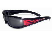 Chicago Padded Sunglasses with Flames