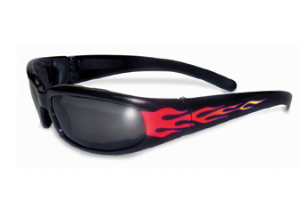 Chicago Flames Padded Glasses