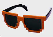 Orange Minecraft Sunglasses