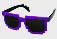 Purple Minecraft Sunglasses