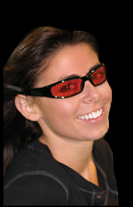 Womens Glasses Frames For Small Faces : Chicago Padded Sunglasses with Colored Lenses Red Lens ...