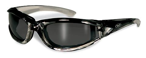 114b901ef7 steel grey padded motorcycle sunglasses