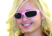 Global Vision Fight Back Pink Padded Sunglasses
