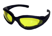 Smaller Padded Sunglasses great for ladies with yellow night driving lenses