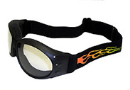 Biker Goggles that are on fire baby