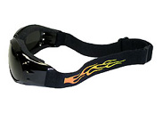 Flame muraled goggles for bikers