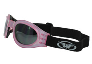 Pink Adventure Folding Biker Goggles by Global Vision