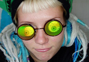 Holographic Eyeball Sunglasses Eyeball 3D Hologram Glasses Halloween Eyeball Novelty Sunglasses