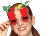 Bloddy Mary Halloween Party Mixed Drink Sunglasses