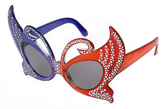 c53284b40e Mardi Gras Butterfly Costume Glasses