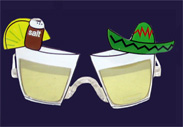 Margarita Sunglasses Halloween Monster Bash Party Margarita Drink Sunglasses