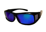 Polarized Fit Over prescription Glasses with color mirror lenses