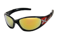 Sunglasses with Rebel flag on the sides
