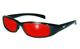 Red Lens New Attitute Motorcycle Sunglasses